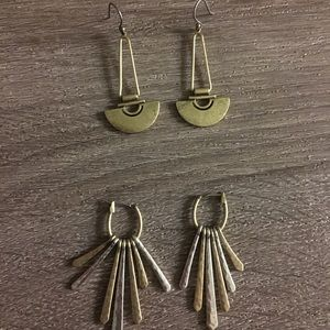 Lucky brand lot of 2 pairs of earrings